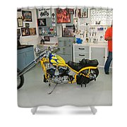 One Chopper Coming Up Shower Curtain