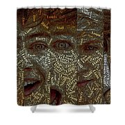 One Direction Faces Mosaic Shower Curtain