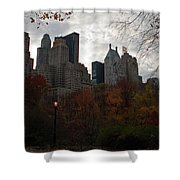 One Light On In Central Park Shower Curtain
