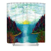 One More Sunset Shower Curtain