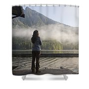 One Person, Woman, Mid Adult, 30-35 Shower Curtain