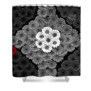 One Red Flower Shower Curtain
