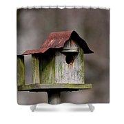 One Room Shack - Bird House Shower Curtain