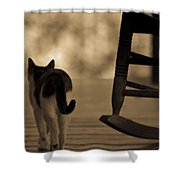 One Saturday Afternoon Shower Curtain