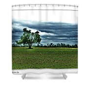 One Tree Left Shower Curtain