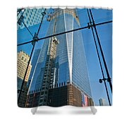One Wtc Rising Shower Curtain