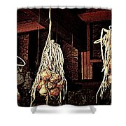 Onions Drying Shower Curtain