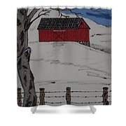 Only A Winter Day Shower Curtain