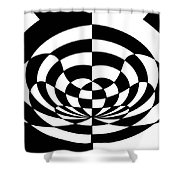 Op Art 2 Shower Curtain by Methune Hively