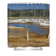 Opalescent Pool Of Yellowstone Shower Curtain