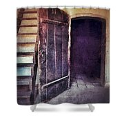 Open Door By Staircase Shower Curtain