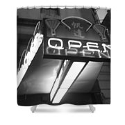 Open For Business Bw Shower Curtain