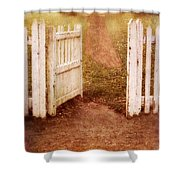 Open Gate To Cottage Shower Curtain