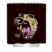 Open Wide Full Color Shower Curtain