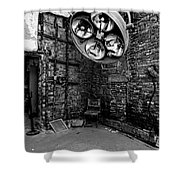 Operating Room - Eastern State Penitentiary - Black And White Shower Curtain