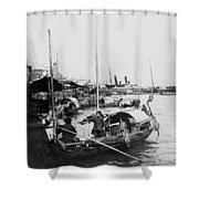 Opium Trader - Hong Kong Harbor - C 1901 Shower Curtain