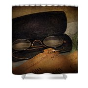 Optometrist - Glasses For Reading  Shower Curtain by Mike Savad
