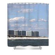 Orange Beach Shower Curtain