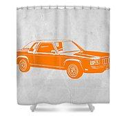 Orange Car Shower Curtain by Naxart Studio