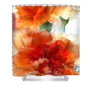 Orange Carnations Shower Curtain