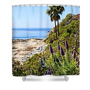 Orange County California Coastline Photo Shower Curtain