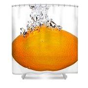 Orange Drop Shower Curtain