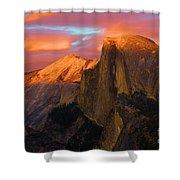 Orange Half Dome Shower Curtain