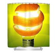 Orange Lamp Shower Curtain