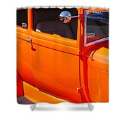 Orange Passenger Door Shower Curtain