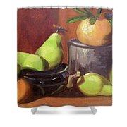 Orange Pears Shower Curtain