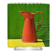Orange Pitcher Shower Curtain
