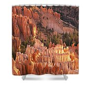 Orange Rock Formations And Trees At Shower Curtain