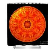 Orange Rose Kaleidoscope Under Glass Shower Curtain