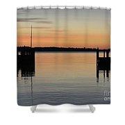 Orange September River Shower Curtain