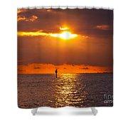 Orange Sky Shower Curtain