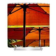 Orange Sliced Umbrellas Shower Curtain