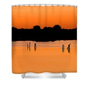 Orange Sunset Florida Shower Curtain