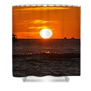 Orange Sunset I Shower Curtain