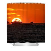 Orange Sunset IIi Shower Curtain