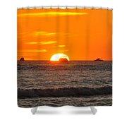 Orange Sunset V Shower Curtain