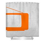 Orange Tv Vintage Shower Curtain