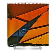 Orange Umbrella Abstract Shower Curtain