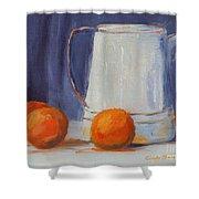 Oranges Still Life Shower Curtain