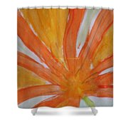 Oranje Bloemblaadje Shower Curtain