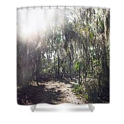 Orb Path Shower Curtain