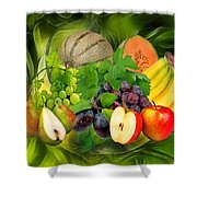 Orchard Shower Curtain by Manfred Lutzius