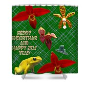Orchid Gardens Shower Curtain