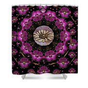 Orchids And Fantasy Flowers Shower Curtain