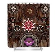 Orchids And Leather Shower Curtain