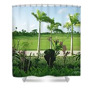 Orchids At Iberostar Golf Course In Punta Cana Dr Shower Curtain